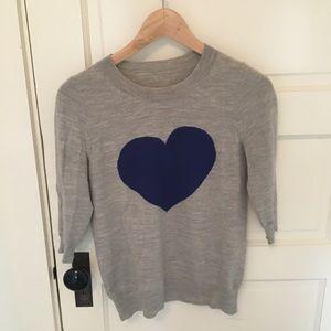 J crew heart intarsia sweater
